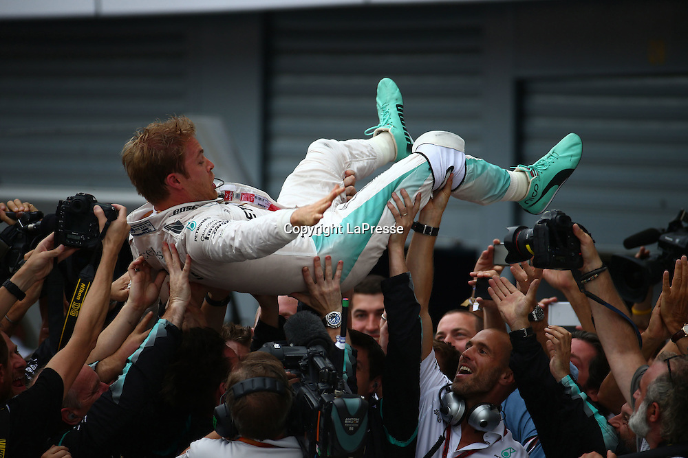 &copy; Photo4 / LaPresse<br /> 04/09/2016 Monza, Italy<br /> Sport <br /> Grand Prix Formula One Italia 2016<br /> In the pic: race winner Nico Rosberg (GER) Mercedes AMG F1 W07 Hybrid