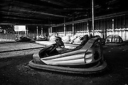 Midway Bumper Car in the Pontchartrain Beach area at Six Flags in East New Orleans - five years later after Hurricane Katrina.