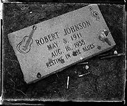 "Robert Johnson's grave. Selections for the series ""Along the Blues Highway"". Copyright © all rights reserved. No reproduction without expressed written consent."
