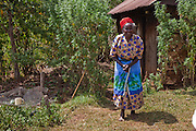 Kibet Serems' grandmother who lives near their farm by herself in a small house.  (Kibet Serem is featured in the book What I Eat: Around the World in 80 Diets.)  Kibet, who is 25 years old, cares for a small tea plantation that his father planted on their property near Kericho, Kenya when Kibet was a young boy and he is responsible for milking the cows that his family owns. He sells extra milk to a nearby school for a government feeding program and gives some to his mother who makes yogurt and sells it.