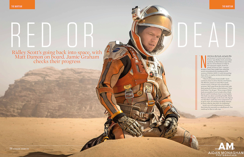 The Martian - Red or Dead - SFX Magazine November 2015<br />