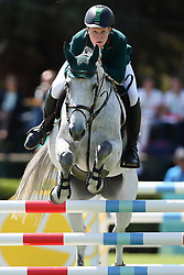 October 9, 2018 - Buenos Aires, Argentina - BUENOS AIRES, AR - 09.10.2018: JOGOS OLÍMPICOS DA JUVENTUDE BUENOS AIRES - The Brazilian Philip MATTOS BOTELHO GREENLEES and the mare Denize Z during equestrian competition by groups of the Youth Olympic Games, held at the Club Hípico Argentino in Buenos Aires, Argentina. (Credit Image: © Marcelo Machado De Melo/Fotoarena via ZUMA Press)