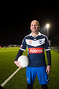 Celebrity chef George Calombaris has lost 22ks after an urgent health regimen<br /> Which included eating better, running and playing local soccer with his old mates.<br /> Photo By Craig Sillitoe