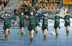 Dancers during the 1st Main round of EHL Champions League match between RK Celje Pivovarna Lasko (SLO) and Rhein Neckar Lowen (GER), on February 14, 2009, in Arena Zlatorog, Celje, Slovenia. Rhein Neckar Lowen won 34:28.  (Photo by Vid Ponikvar / Sportida)
