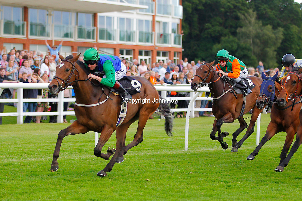 Caminel and Tom Queally winning the 7.05 race