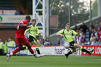 Photo: Lee Earle.<br /> Crystal Palace v Sheffield United. Coca Cola Championship. 22/09/2007. Tom Soares (L) scores Palace's first goal to equalise.