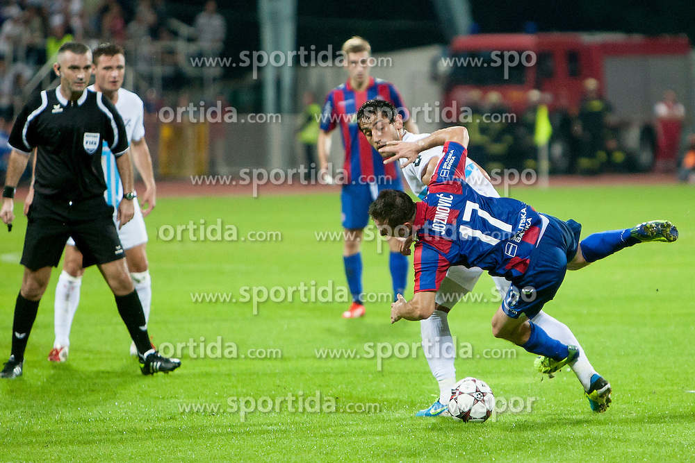 Goran Jozinovic #17 of HNK Hajduk Split during football match between HNK Rijeka and HNK Hajduk Split in 11th Round of Prva Hrvaska Nogometna Liga MaxTV 2013/14 on September 28, 2013 in Stadion Kantrida, Rijeka, Croatia. (Photo By Urban Urbanc / Sportida.com)