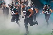 Jacksonville Jaguars Defensive Back Andrew Wingard (42) introduction during the International Series match between Jacksonville Jaguars and Houston Texans at Wembley Stadium, London, England on 3 November 2019.