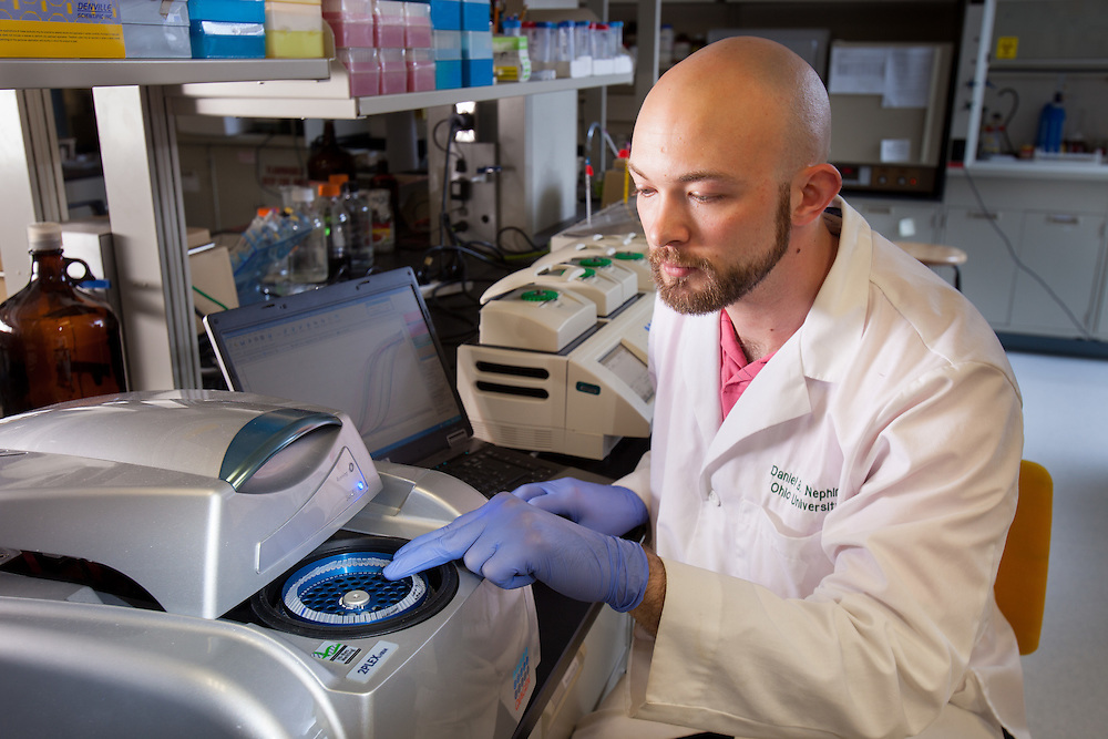 Daniel B. Nething, Biochemistry Research Facility Ohio University. © Ohio University / Photo by Jonathan Adams