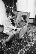 1959. Lake Lugano in Switzerland. Romy Schneider, Austrian actress and Alain Delon, French actor, spend the weekend at Romy's mother's house.<br /> <br /> <br /> 1959. Lac Lugano en Suisse. Romy Schneider actrice autrichienne et Alain Delon, acteur fran&ccedil;ais, passent le week-end &agrave; la maison de la m&egrave;re de Romy .