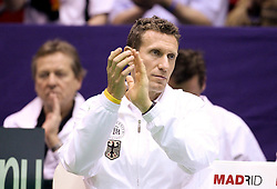04.03.2011, Dom Sportova, Zagreb, Croatia - ITF Davis Cup, Croatia (CRO) vs Germany (GER), first round. Coach Patrick Kühnen / Kuehnen (GER)                                                                                                   EXPA Pictures © 2011, PhotoCredit: EXPA/ nph/ PIXSELL       ****** out of GER / SWE / CRO  / BEL ******