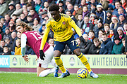 Arsenal midfielder Bukayo Saka in action during the Premier League match between Burnley and Arsenal at Turf Moor, Burnley, England on 2 February 2020.