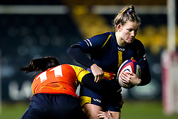 Lydia Thompson of Worcester Warriors Women is tackled by Lindsey Mayo of Richmond Women - Mandatory by-line: Robbie Stephenson/JMP - 11/01/2020 - RUGBY - Sixways Stadium - Worcester, England - Worcester Warriors Women v Richmond Women - Tyrrells Premier 15s