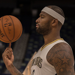 Sep 25, 2017; New Orleans, LA, USA; New Orleans Pelicans center DeMarcus Cousins (0) during Media Day at the Smoothie King Center. Mandatory Credit: Derick E. Hingle-USA TODAY Sports