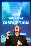 """Nederland Amsterdam 16 maart 2012<br /> Auteur van het boek """"The Great Disruption""""  Paul Gilding ( voormalig directeur Greenpeace ) over de ecologische en economische crisis en wat er in de toekomst moet veranderen.<br /> Foto: Jan Boeve"""