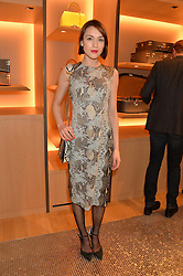 ELLA CATLIFF at the opening party for Moynat's new Maison de Vente in Mayfair at 112 Mount Street, London W1 on 12th March 2014.