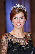 "CROWN PRINCESS LETIZIA OF SPAIN.attend the gala farewell dinner for Queen Beatrix at the Rijksmuseum in Amsterdam, The Netherlands_April 29, 2013..Crown Prince Willem-Alexander and Crown Princess Maxima will be proclaimed King and Queen  of The Netherlands on the abdication of Queen Beatrix on 30th April 2013..Mandatory Credit Photos: ©NEWSPIX INTERNATIONAL..**ALL FEES PAYABLE TO: ""NEWSPIX INTERNATIONAL""**..PHOTO CREDIT MANDATORY!!: NEWSPIX INTERNATIONAL(Failure to credit will incur a surcharge of 100% of reproduction fees)..IMMEDIATE CONFIRMATION OF USAGE REQUIRED:.Newspix International, 31 Chinnery Hill, Bishop's Stortford, ENGLAND CM23 3PS.Tel:+441279 324672  ; Fax: +441279656877.Mobile:  0777568 1153.e-mail: info@newspixinternational.co.uk"