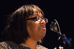 The Camden Centre, Kings Cross, London, November 4th 2015. Diane Abbott addresses a rally at the Camden Centre in Kings Cross, organised by Stand Up To Racism in support of refugees.