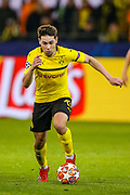 Borussia Dortmund defender Raphaël Guerreiro (13) during the Champions League round of 16, leg 2 of 2 match between Borussia Dortmund and Tottenham Hotspur at Signal Iduna Park, Dortmund, Germany on 5 March 2019.