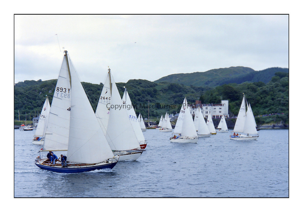 Historic Scottish Series Images 1975<br /> <br /> Start off Crinan in 1975<br /> <br /> Picture Copyright  PFM Pictures