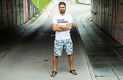 Portrait of Robert Kristan - Lix, former ice hockey goalie, on August 13, 2019 in Ljubljana, Slovenia. Photo by Vid Ponikvar / Sportida