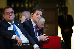 © Licensed to London News Pictures . 06/11/2014 . Leeds , UK . The Deputy Prime Minister , NICK CLEGG , at the Northern Futures Summit in Leeds this morning (Thursday 6th November 2014) .  . Photo credit : Joel Goodman/LNP