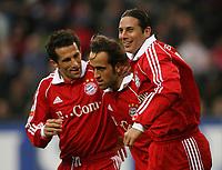 Hamburg<br /> Jubel etter scoring Ali Karimi Mitte, Hasan Salihamidzic, Claudio Pizarro<br /> Oliver Kahn <br /> Hamburger SV - FC Bayern Muenchen<br /> Vennskapskamp Friendly<br /> 20.01.07<br /> DIGITALSPORT / NORWAY ONLY