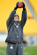 Pittsburgh Steelers tight end Heath Miller (83) catches a pregame pass during the NFL week 16 football game against the St. Louis Rams on Saturday, December 24, 2011 in Pittsburgh, Pennsylvania. The Steelers won the game in a 27-0 shutout. ©Paul Anthony Spinelli