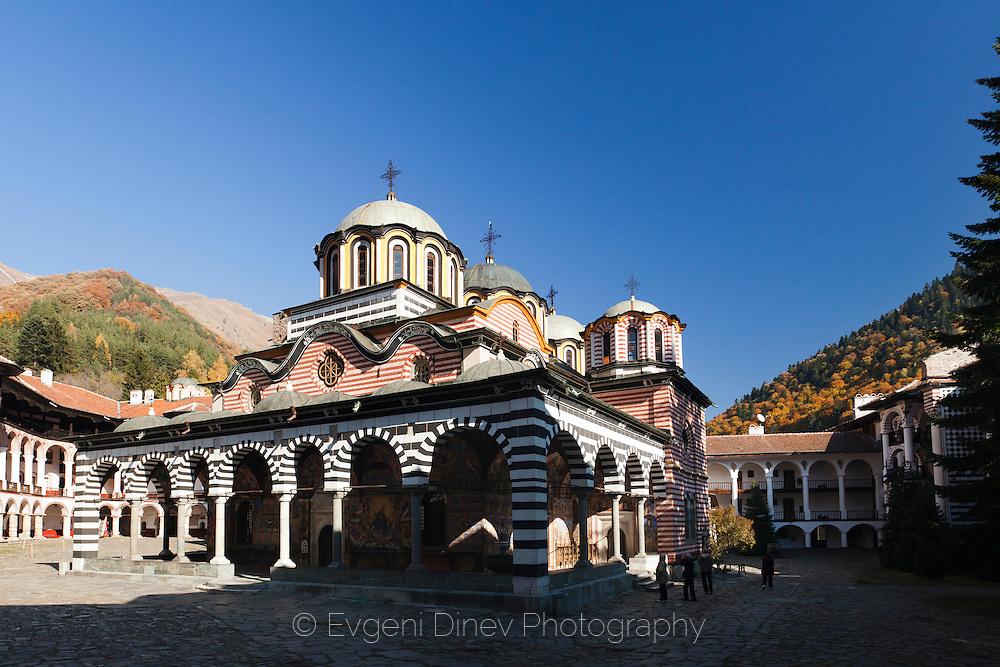 Rila monastery in autumn