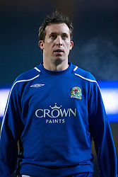 BLACKBURN, ENGLAND - Saturday, December 6, 2008: Liverpool's former striker Blackburn Rovers' Robbie 'God' Fowler, warms down after the 3-1 defeat by Liverpool during the Premiership match at Ewood Park. (Photo by David Rawcliffe/Propaganda)