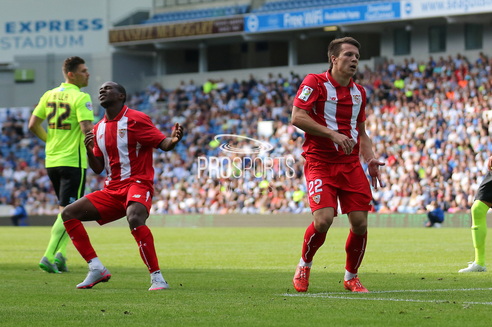 Levgenili Konoplyanka of Sevilla during the Pre-Season Friendly match between Brighton and Hove Albion and Sevilla at the American Express Community Stadium, Brighton and Hove, England on 2 August 2015. Photo by Ellie Hoad.