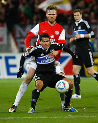 10.12.2011, Coface Arena, Stuttgart, GER, 1.FBL, 1. FSV Mainz 05 vs Hamburger SV, Jan KIRCHHOFF, FSV Mainz - Hernandez Tomas RINCON, HSV // during the match from GER, 1.FBL, 1. FSV Mainz 05 vs Hamburger SV on 2011/12/10,  Coface Arena, Mainz, Germany. EXPA Pictures © 2011, PhotoCredit: EXPA/ nph/ A.Huber..***** ATTENTION - OUT OF GER, CRO *****