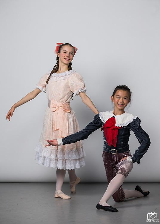 Bay Pointe Ballet students pose for their Nutcracker 2017 portraits during Photo Day at Bay Pointe Ballet in South San Francisco, California, on November 18, 2017. (Stan Olszewski/SOSKIphoto)