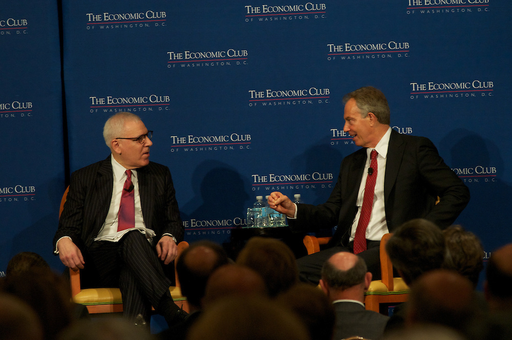 Tony Blair addresses the Economic Club of Washington at the JW Marriott