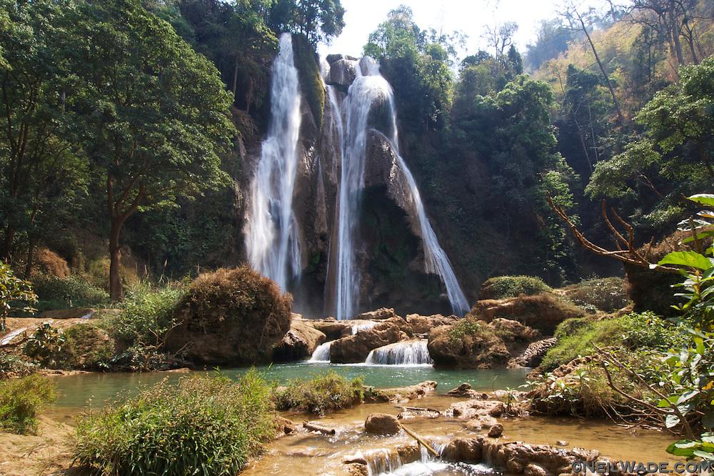 The Anisikan Waterfall, near Pyin U lwin, Myanmar.
