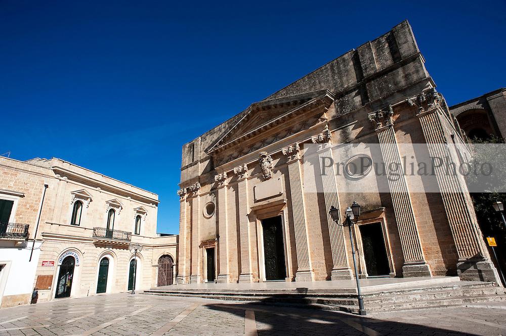 Alessano 18 ottobre 2012..Vista Piazza Don Tonino Bello, centro del Comune di Alessano (Salento) in provincia di Lecce.