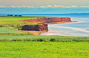 Red sand and bluffs along the Northumberland Strait<br />