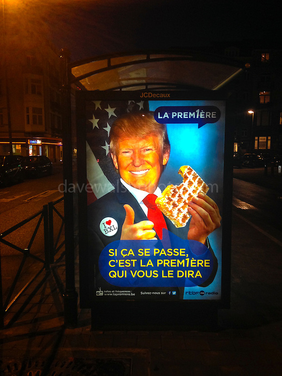 "Following Donald Trump's derogatory remarks about Brusses, broadcaster RTBF responds with humour. ""If this happens, we will be the firs to tell you!"""