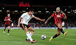 Rafa Mir of Valencia crosses the ball past Steve Cook of Bournemouth - Mandatory by-line: Robbie Stephenson/JMP - 03/08/2016 - FOOTBALL - Vitality Stadium - Bournemouth, England - AFC Bournemouth v Valencia - Pre-season friendly