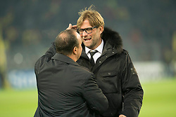 26.11.2013, Signal Iduna Park, Dortmund, GER, UEFA CL, Borussia Dortmund vs SSC Neapel, Gruppe F, im Bild Jurgen Klopp (Borussia Dortmund), Rafael Benitez (SSC Napoli) // Jurgen Klopp (Borussia Dortmund), Rafael Benitez (SSC Napoli) during UEFA Champions League group F match between Borussia Dortmund and SSC Napoli at the Signal Iduna Park in Dortmund, Germany on 2013/11/26. EXPA Pictures © 2013, PhotoCredit: EXPA/ Newspix/ Lukasz Skwiot / Foto Olimpik<br /> <br /> *****ATTENTION - for AUT, SLO, CRO, SRB, BIH, MAZ, TUR, SUI, SWE only*****