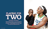 Playing For Two, NCAA's CHAMPION Magazine