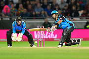Brett D'Oliveira of Worcestershire in action during the final of the Vitality T20 Finals Day 2018 match between Worcestershire Rapids and Sussex Sharks at Edgbaston, Birmingham, United Kingdom on 15 September 2018.