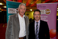 At the Ulster Bank Business Live event in the clayton Hotel Galway were, from right to left, Stephen Langan BeeGreen Drycleaners and Sean Boyle Ulster Bank. Galway business professionals and entrepreneurs attend an event focused on international and cross-border trading – providing knowledge and guidance on new opportunities for businesses that are looking to expand their current reach for their products or services. The event, which took place on 6th February, was part of Ulster Bank's 'Business Live' series, running in association with Smallbusinesscan.com. The Ulster Bank Business Live events will run until March 5th 2012, appearing in key towns and cities in the Republic of Ireland and Northern Ireland. Further information about the Business Live events is available from Ulster Bank branches or at www.smallbusinesscan.com. Photo:Andrew Downes photography.