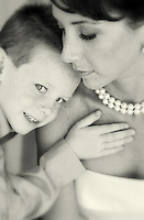 touching mother & son photo of a bride on her second marriage
