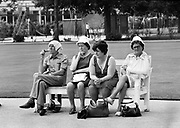 Watching the bowls in a Sale park - 1975<br />