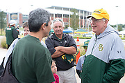 Judge Ken Starr, President and Chancellor of Baylor University, speaks with fans before the Bears defeated #9 TCU in Waco, Texas on October 11, 2014. (Cooper Neill for The New York Times)