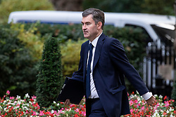 © Licensed to London News Pictures. 16/10/2018. London, UK. Justice Secretary David Gauke arrives on Downing Street for the Cabinet meeting. Prime Minister Theresa May faces a possible rebellion from members of the Cabinet over her plans for Brexit. Photo credit: Rob Pinney/LNP