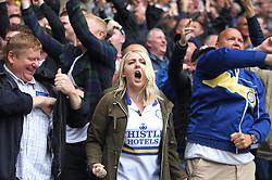 Leeds United fans celebrate after scoring their first goal - Mandatory by-line: Jack Phillips/JMP - 06/08/2017 - FOOTBALL - Macron Stadium - Bolton, England - Bolton Wanderers v Leeds United - English Football League Championship