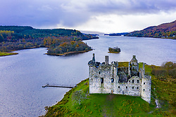 Kilchurn castle at Dalmally in Argyll and Bute in west of Scotland