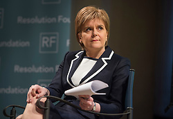 © Licensed to London News Pictures. 29/02/2016. London, UK. Leader of the SNP NICOLA STURGEON waits to deliver a speech on the EU to think-tank, Resolution Foundation at St John's Smith Square . Photo credit: Ben Cawthra/LNP